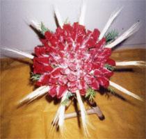 Bouquet de Rosas Redondo com Trigo
