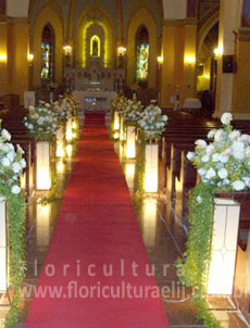 Decoração Igreja Nsa. Sra. da Lapa - (Casamento do casal Carla e Carlos)