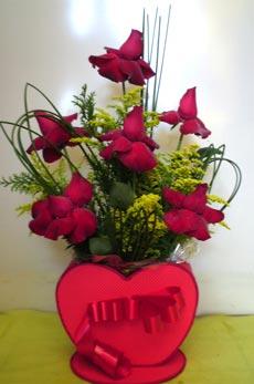 Coracao de rosas colombianas